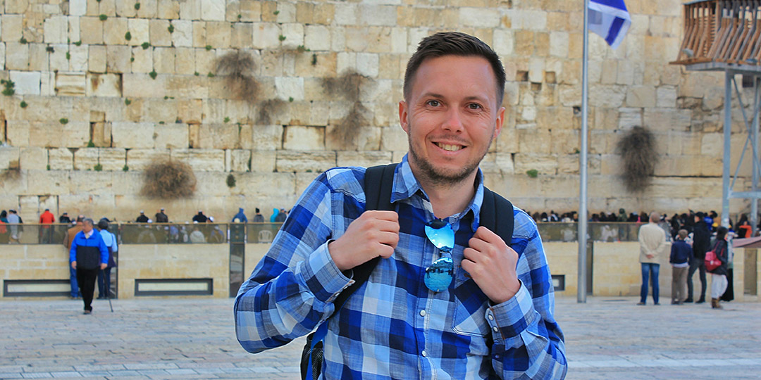 Young man in the Kotel